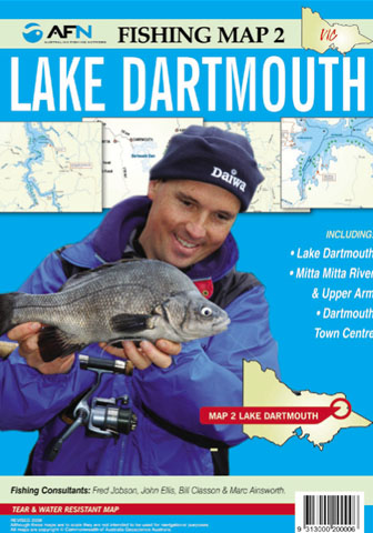 Lake Dartmouth Fishing Map 2 AFN